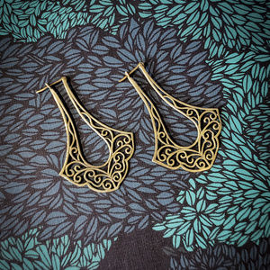 Artisan crafted Butterfly Brass drop earrings